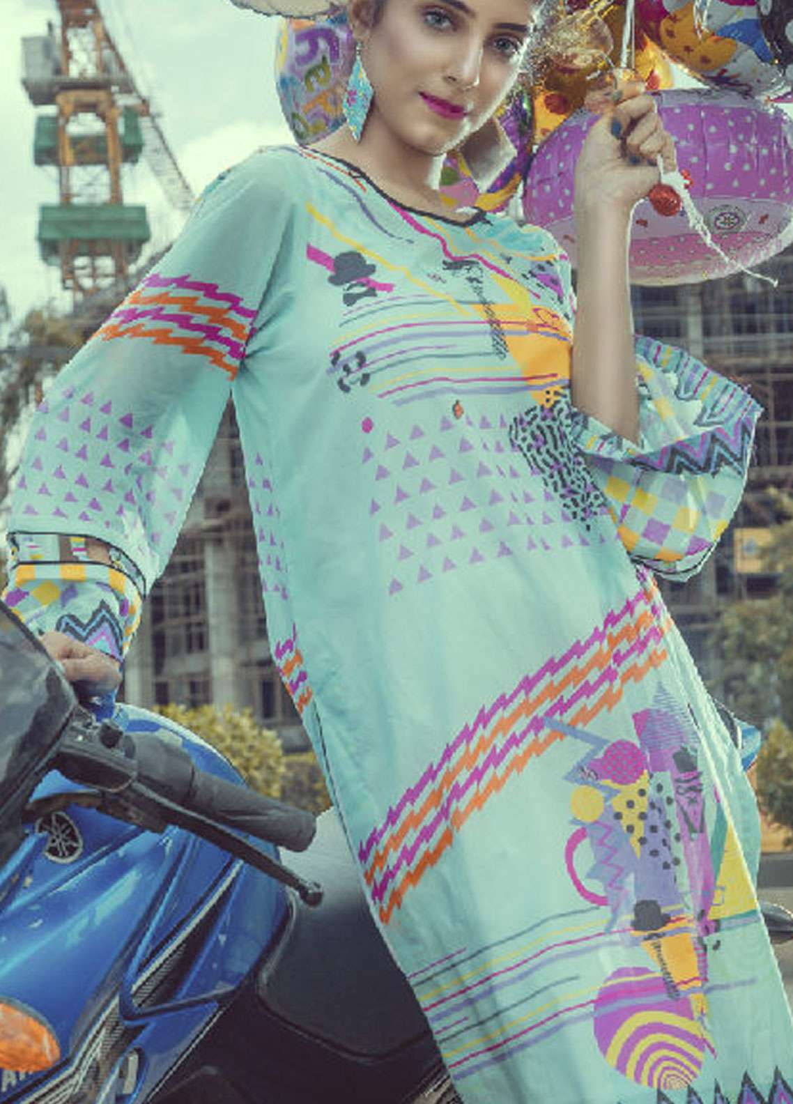 Fateh Printed Lawn Unstitched Kurties FS-0121 - Spring / Summer Collection