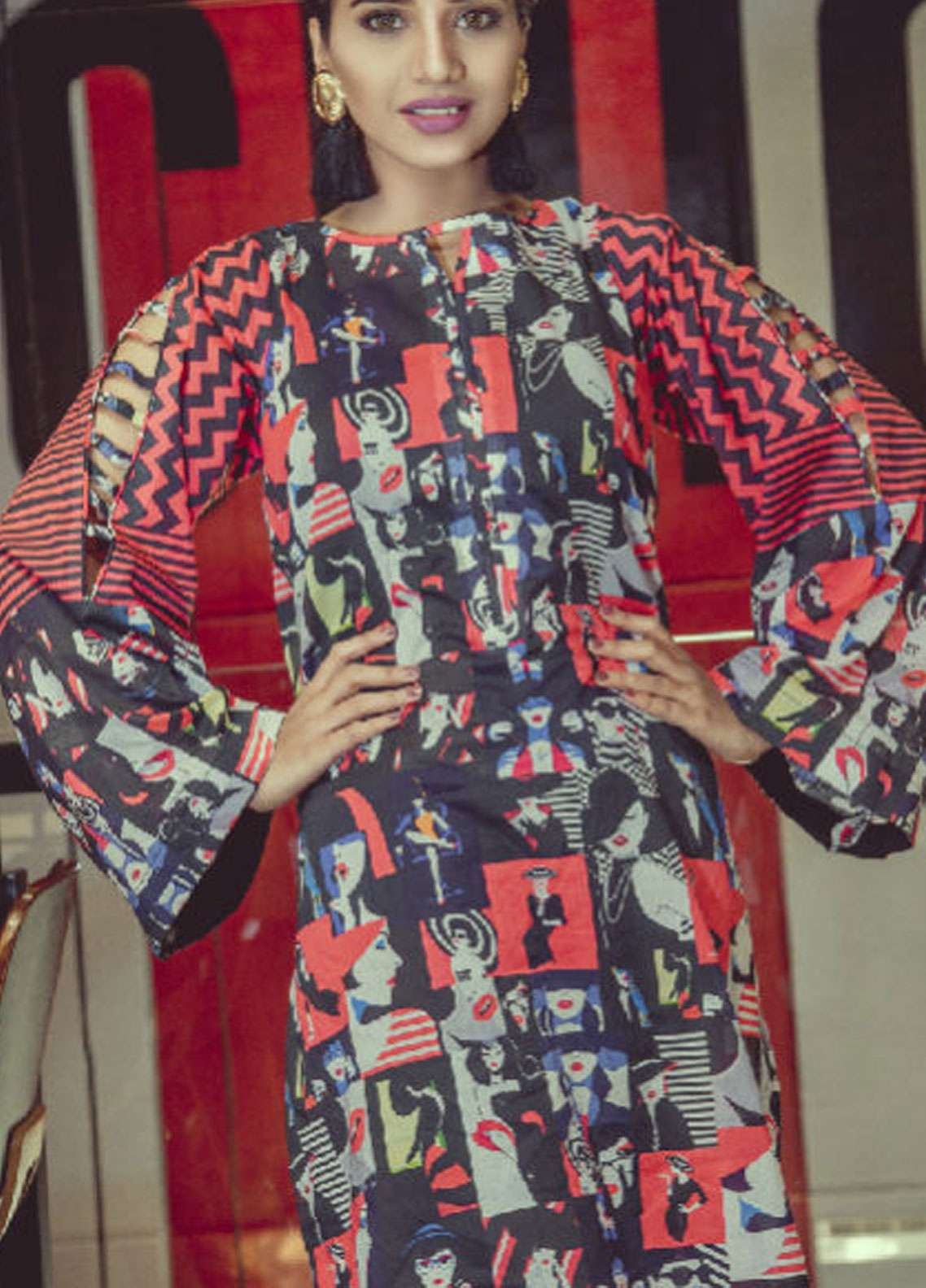 Fateh Printed Lawn Unstitched Kurties FS-0124 - Spring / Summer Collection