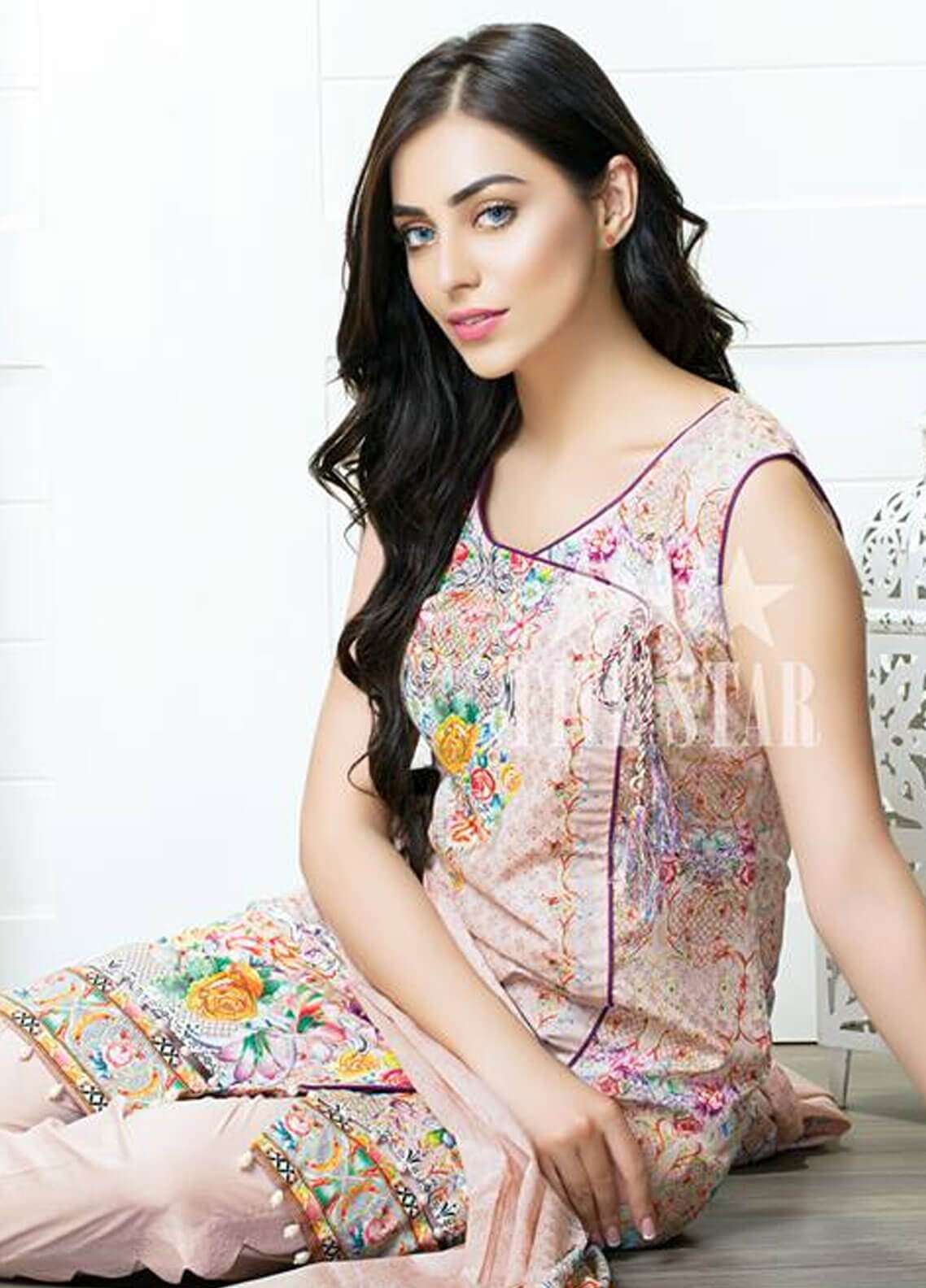 Five Star Printed Cambric Unstitched 3 Piece Suit FS18C 502B - Classic Collection