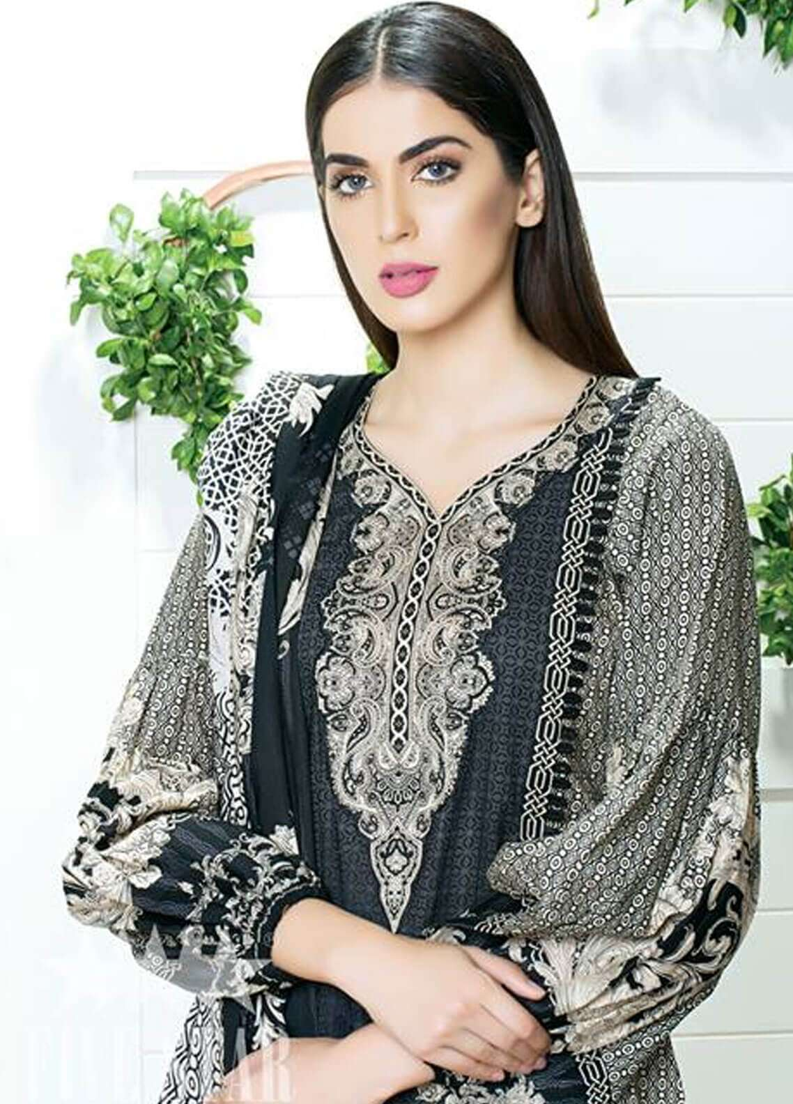 Five Star Printed Cambric Unstitched 3 Piece Suit FS18C 516A - Classic Collection