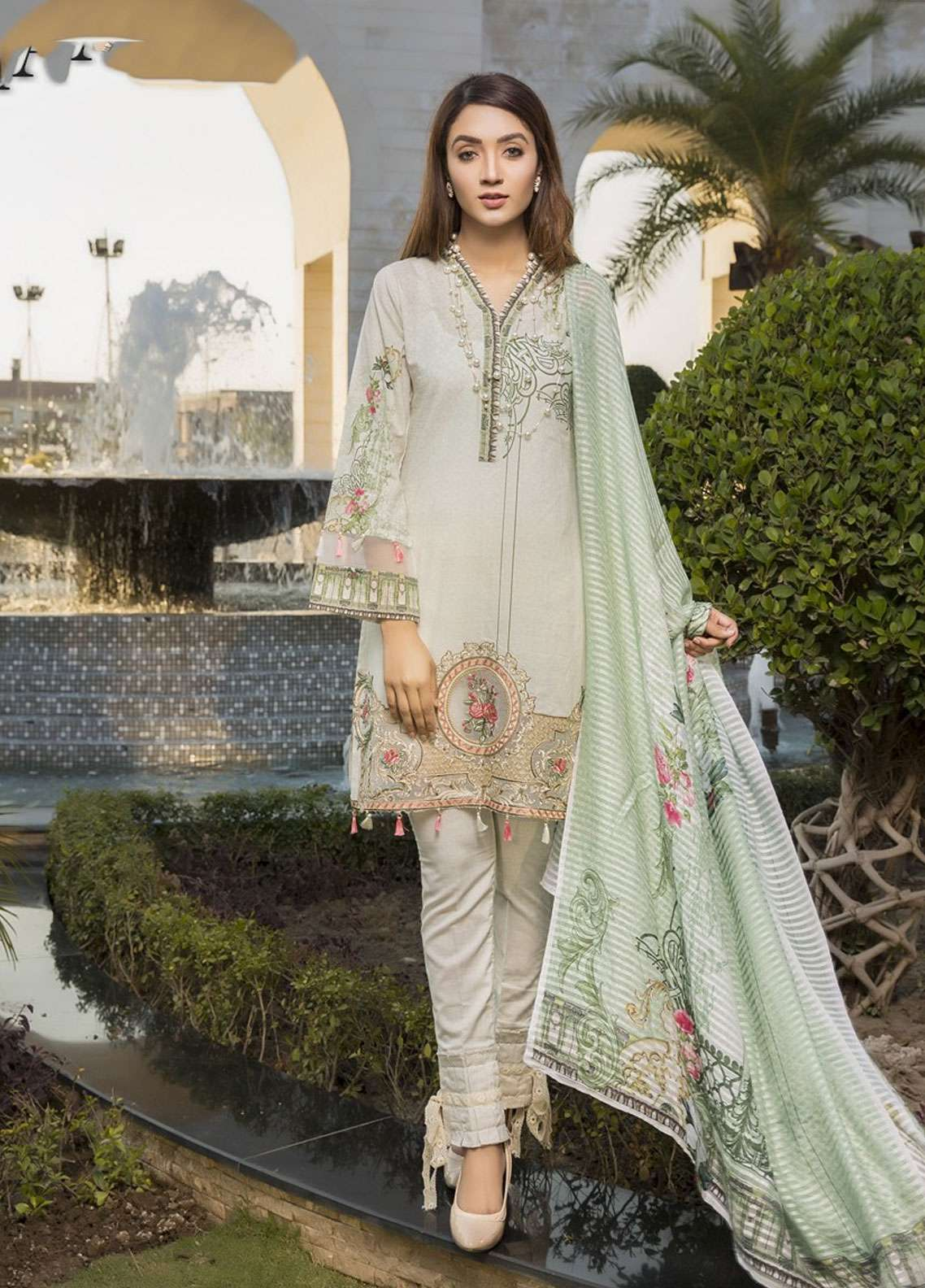 Florence by Mohagni Embroidered Lawn Unstitched 3 Piece Suit FMO19L 02 - Spring / Summer Collection