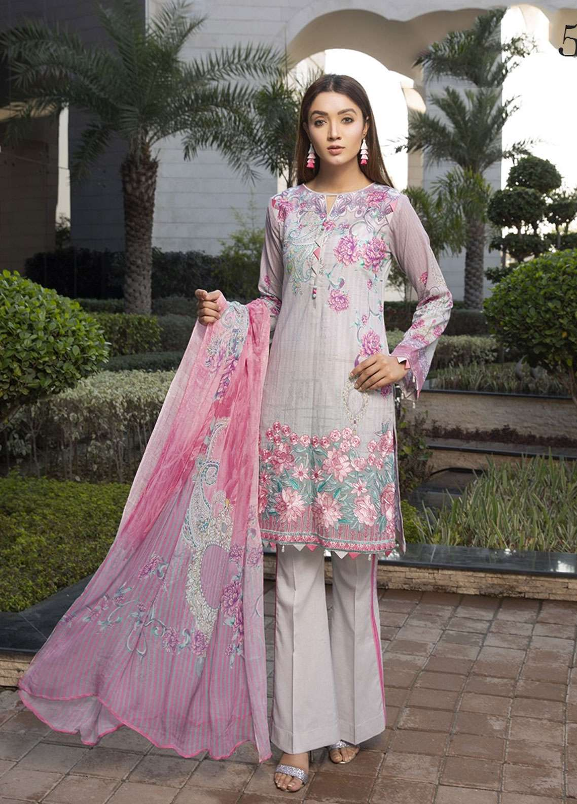 Florence by Mohagni Embroidered Lawn Unstitched 3 Piece Suit FMO19L 05 - Spring / Summer Collection