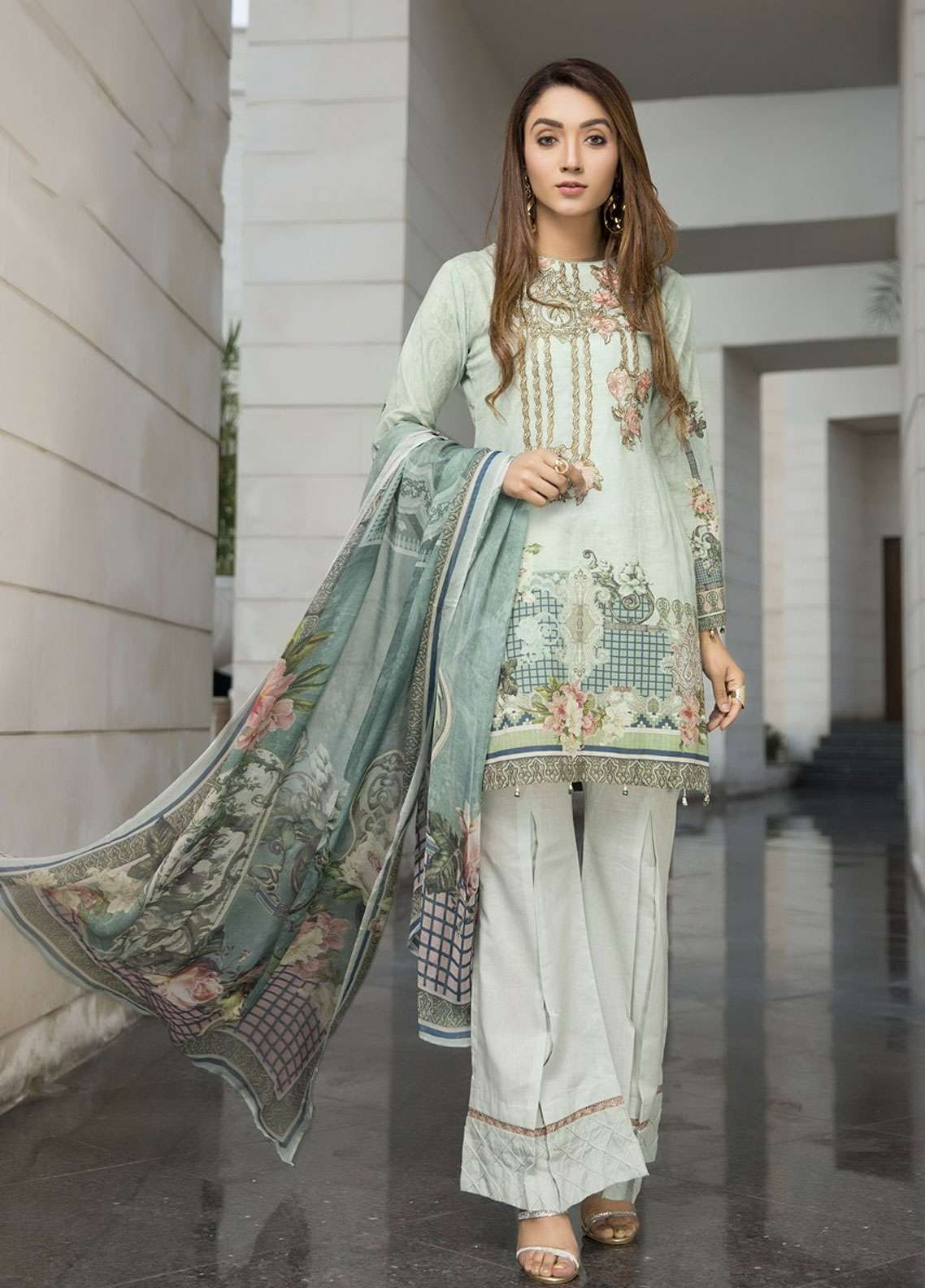 Florence by Mohagni Embroidered Lawn Unstitched 3 Piece Suit FMO19L 08 - Spring / Summer Collection