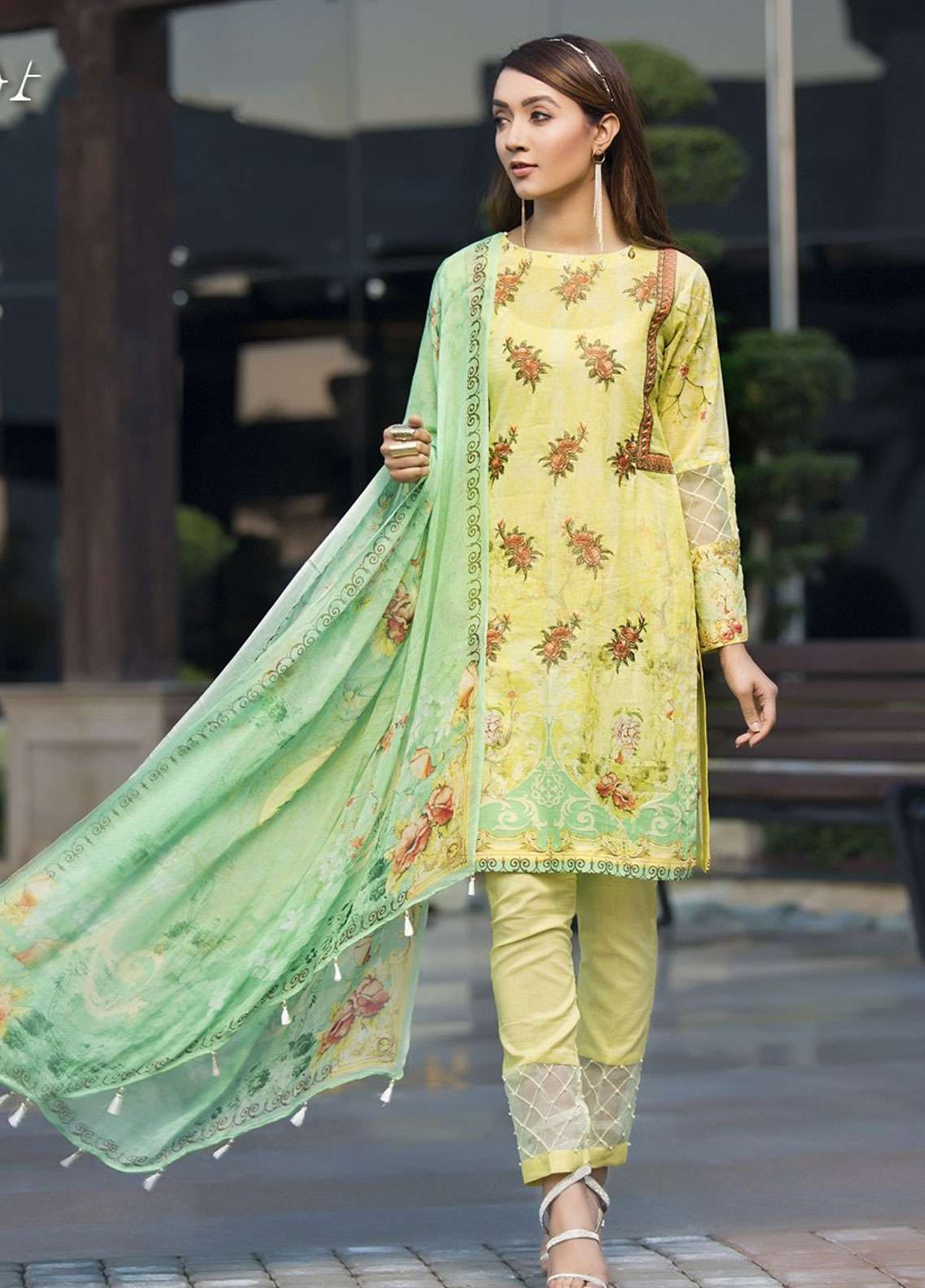 Florence by Mohagni Embroidered Lawn Unstitched 3 Piece Suit FMO19L 10 - Spring / Summer Collection
