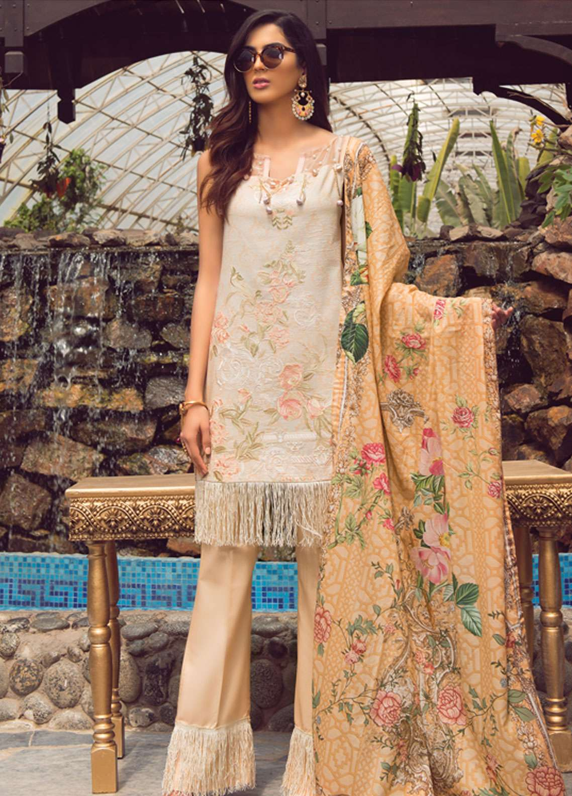 Florence by Rang Rasiya Embroidered Lawn Unstitched 3 Piece Suit FRR19L 8004A - Spring / Summer Collection