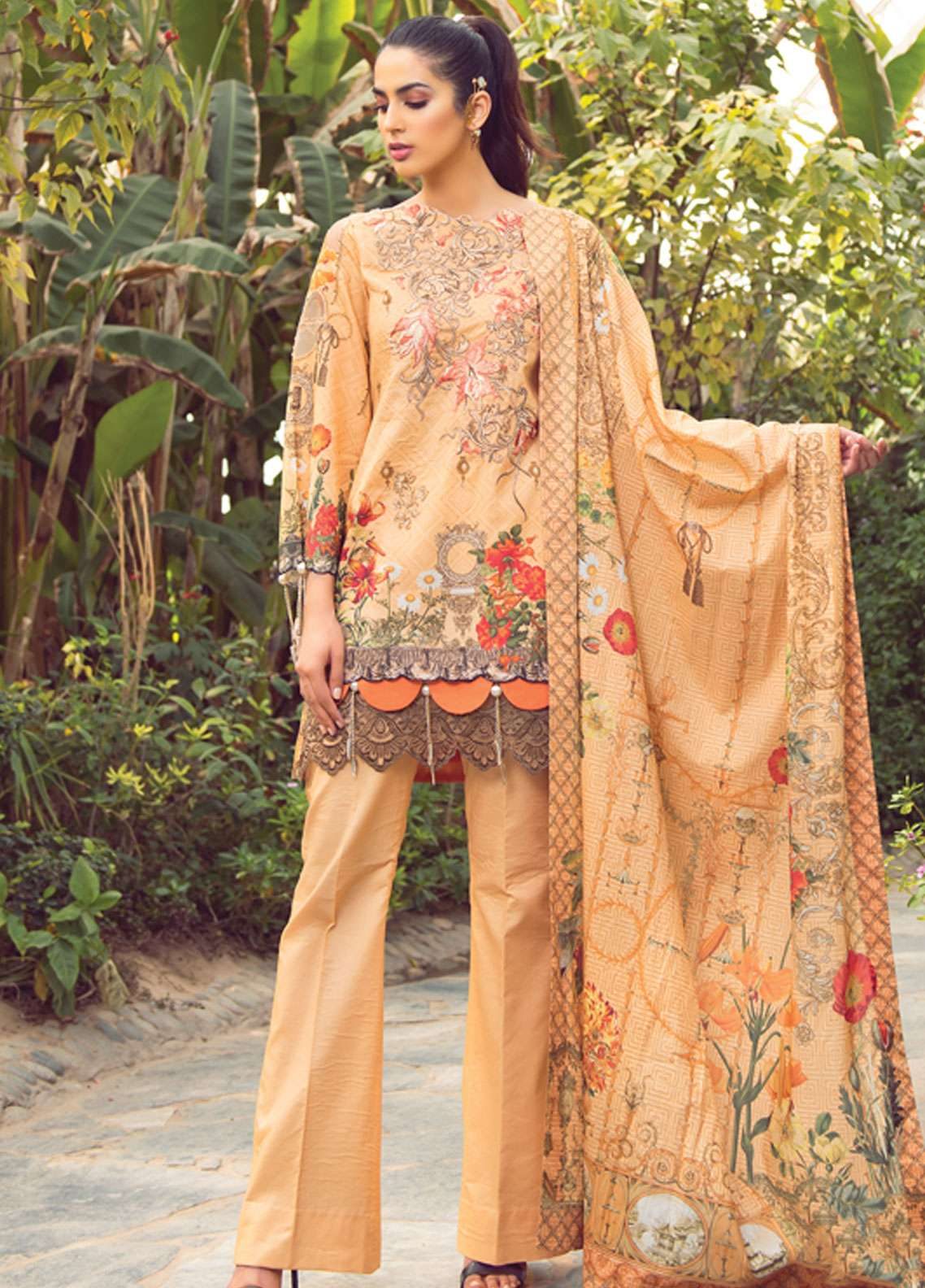 Florence by Rang Rasiya Embroidered Lawn Unstitched 3 Piece Suit FRR19L 8005A - Spring / Summer Collection