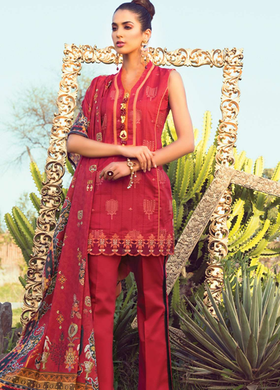 Florence by Rang Rasiya Embroidered Lawn Unstitched 3 Piece Suit FRR19L 8008A - Spring / Summer Collection