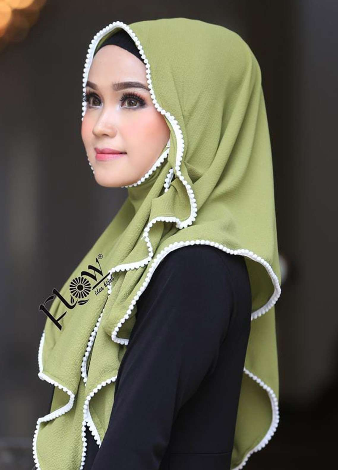 Flow Idea Hijab  Bubble Pop  Ladies Scarves HH Flow Ambara 03 Green
