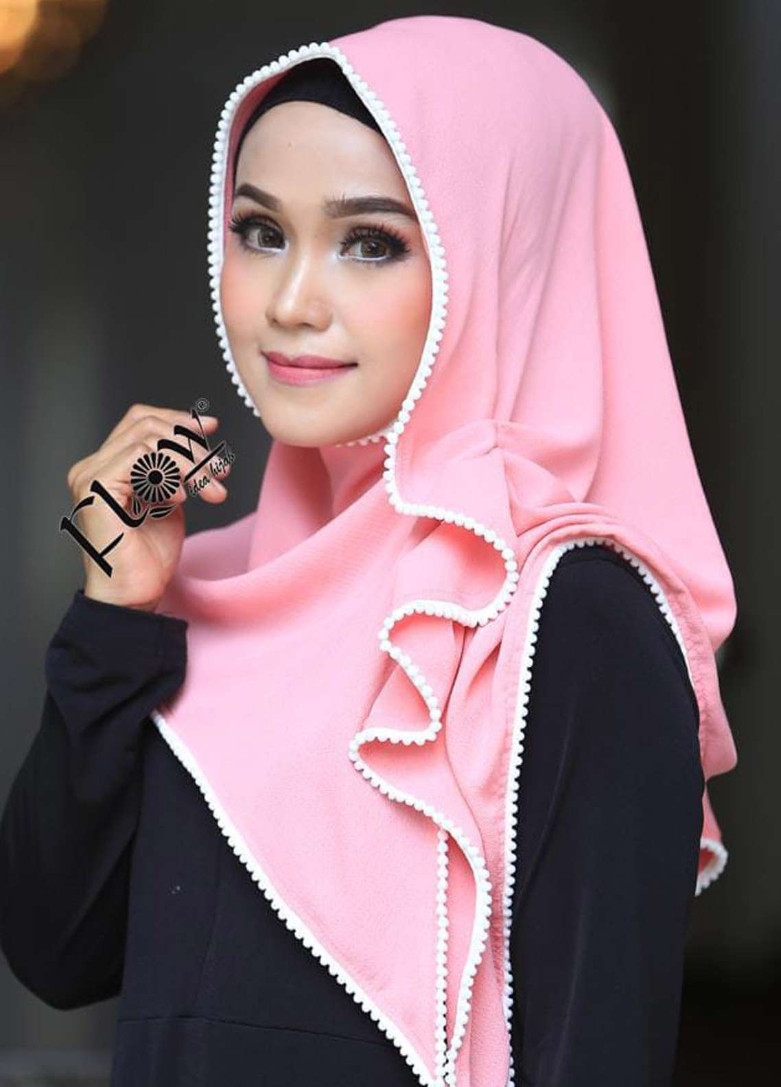 Flow Idea Hijab  Bubble Pop  Ladies Scarves HH Flow Ambara 05 Baby Pink