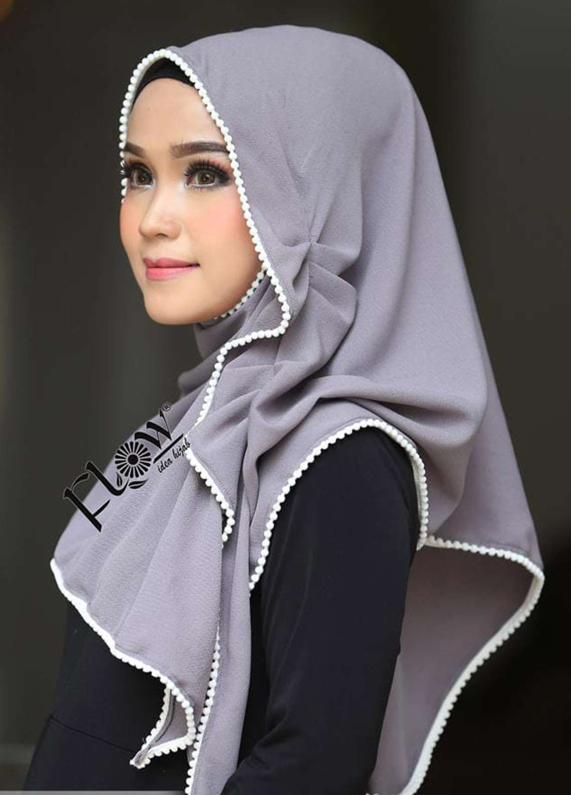 Flow Idea Hijab  Bubble Pop  Ladies Scarves HH Flow Ambara 09 Grey