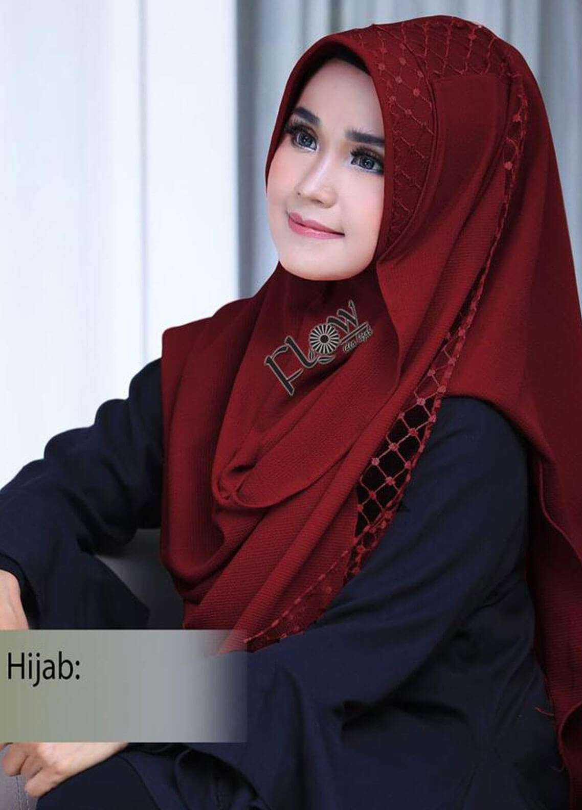Flow Idea Hijab  Bubble Pop  Ladies Scarves HH Flow Amily 02 Mehroon