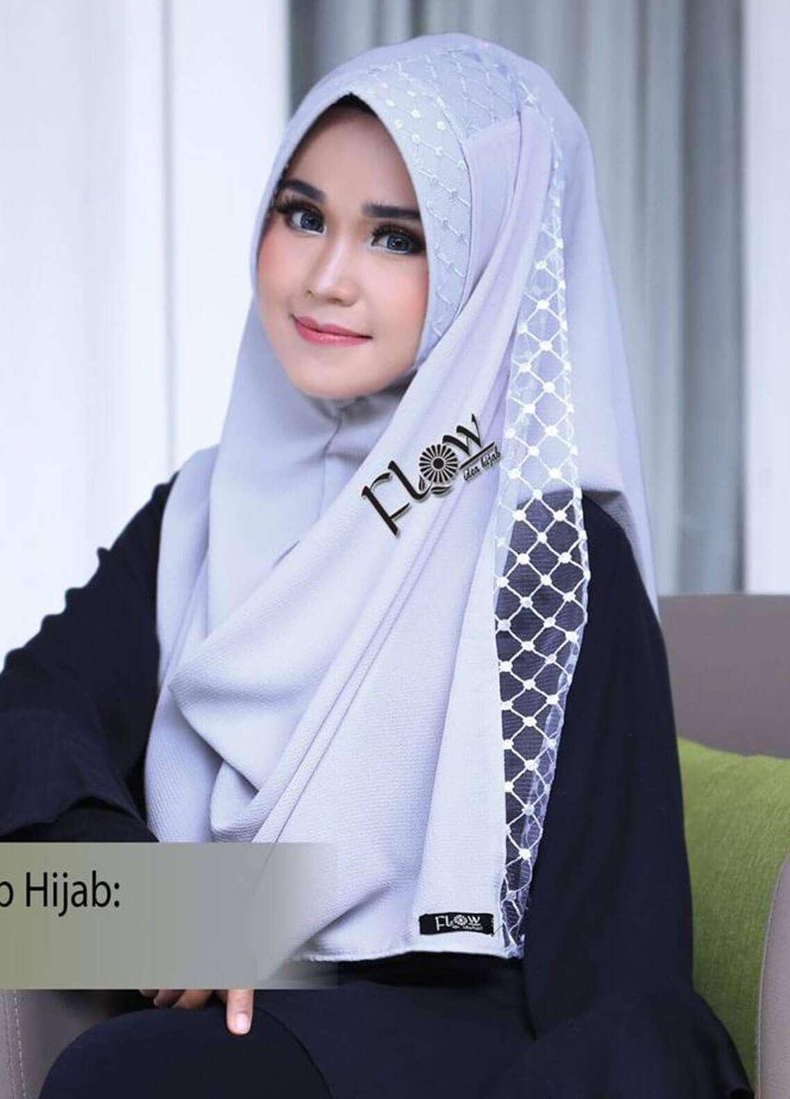 Flow Idea Hijab  Bubble Pop  Ladies Scarves HH Flow Amily 03 Grey