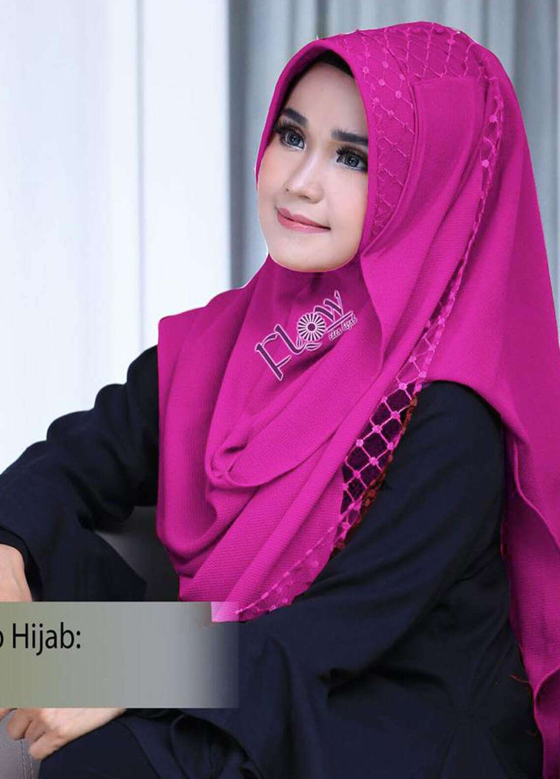 Flow Idea Hijab  Bubble Pop  Ladies Scarves HH Flow Amily 04 Pink Fresh