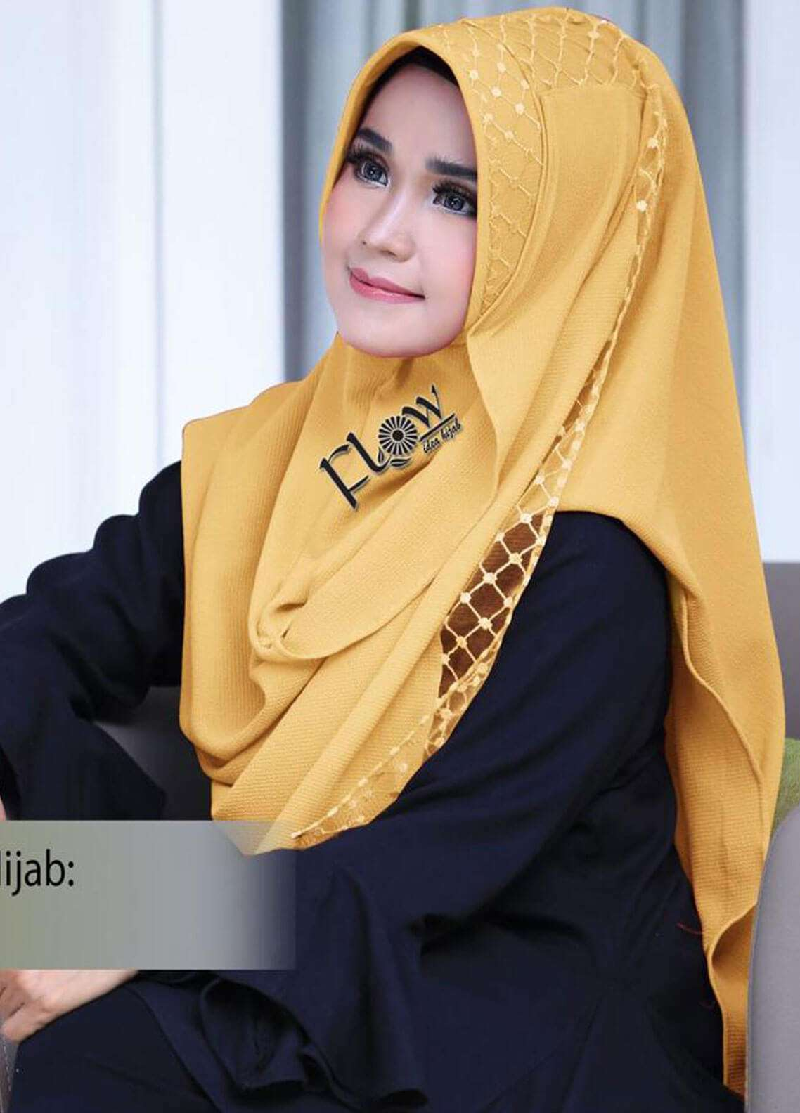 Flow Idea Hijab  Bubble Pop  Ladies Scarves HH Flow Amily 07 Golden
