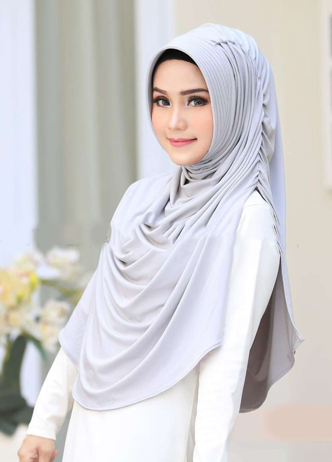 Flow Idea Hijab  Jersey  Ladies Scarves HH Flow Dravery 08 Grey -