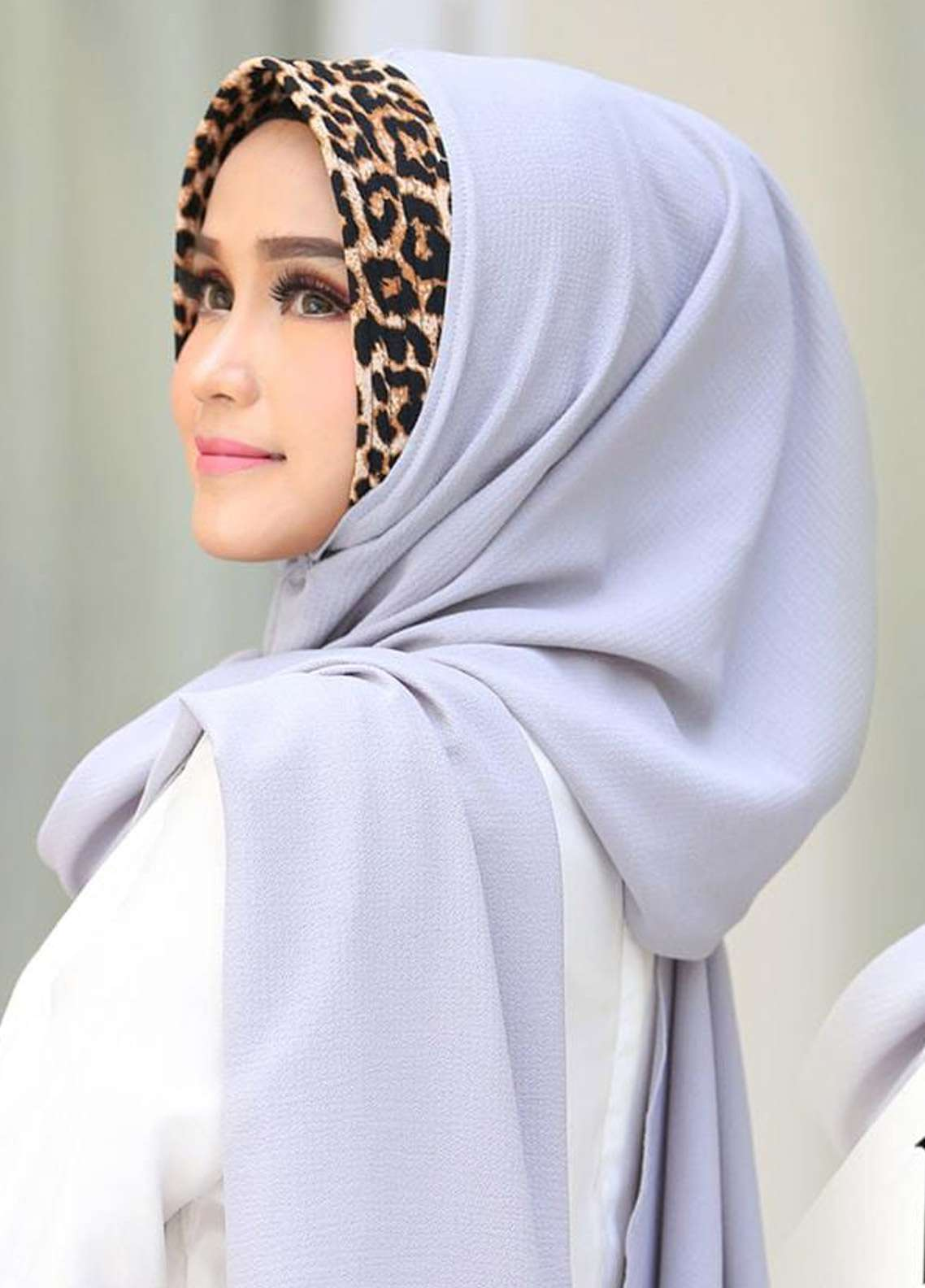 Flow Idea Hijab  Bubble Pop  Ladies Scarves HH Flow Leona 03 Grey