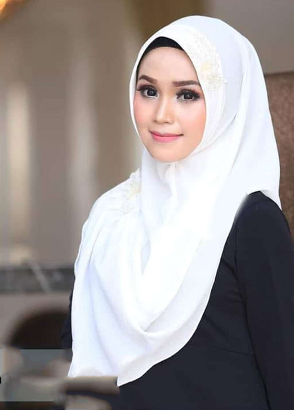 Flow Idea Hijab  Bubble Pop  Ladies Scarves HH Flow Nabila 01 White