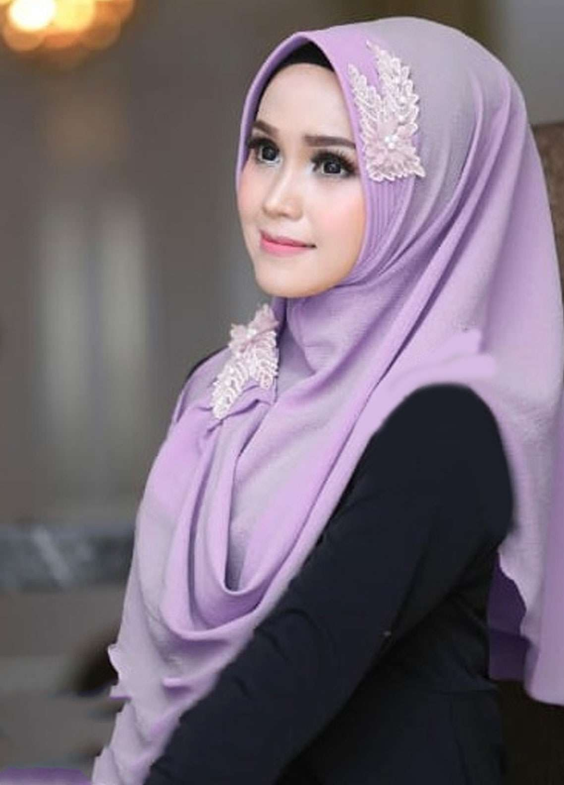 Flow Idea Hijab  Bubble Pop  Ladies Scarves HH Flow Nabila 02 Purple