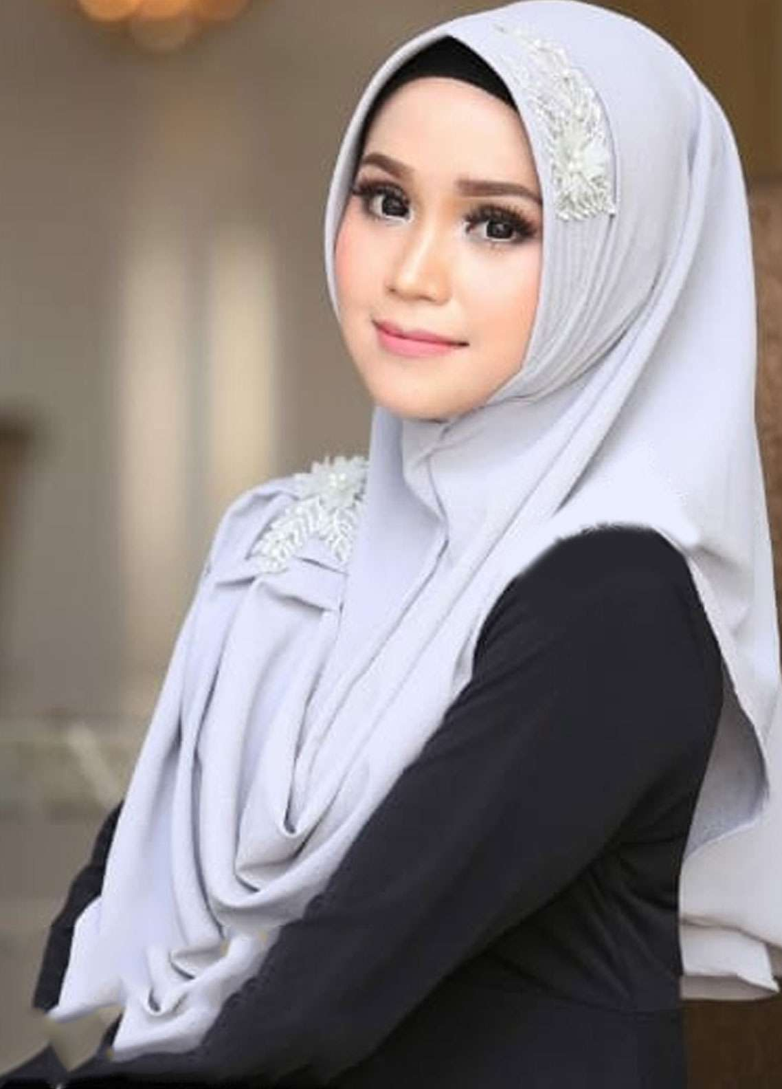 Flow Idea Hijab  Bubble Pop  Ladies Scarves HH Flow Nabila 03 Grey