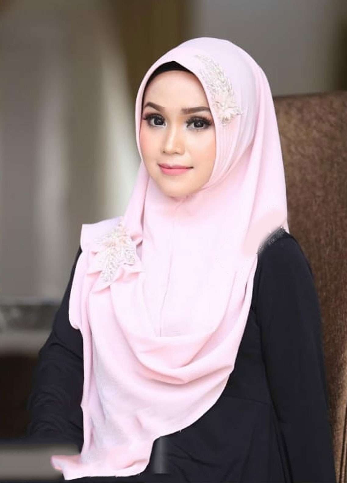 Flow Idea Hijab  Bubble Pop  Ladies Scarves HH Flow Nabila 04 Pink