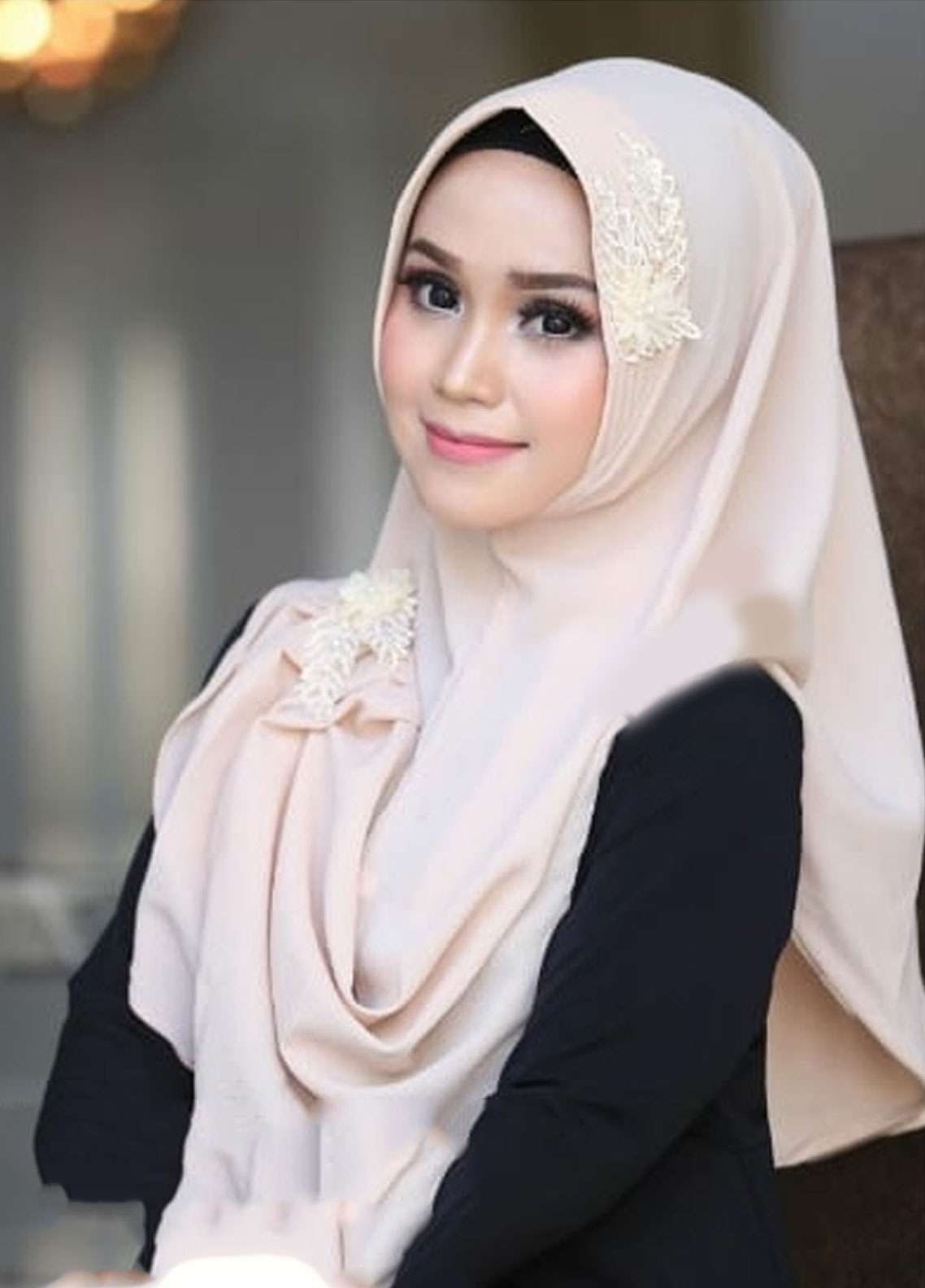 Flow Idea Hijab  Bubble Pop  Ladies Scarves HH Flow Nabila 05 Cream