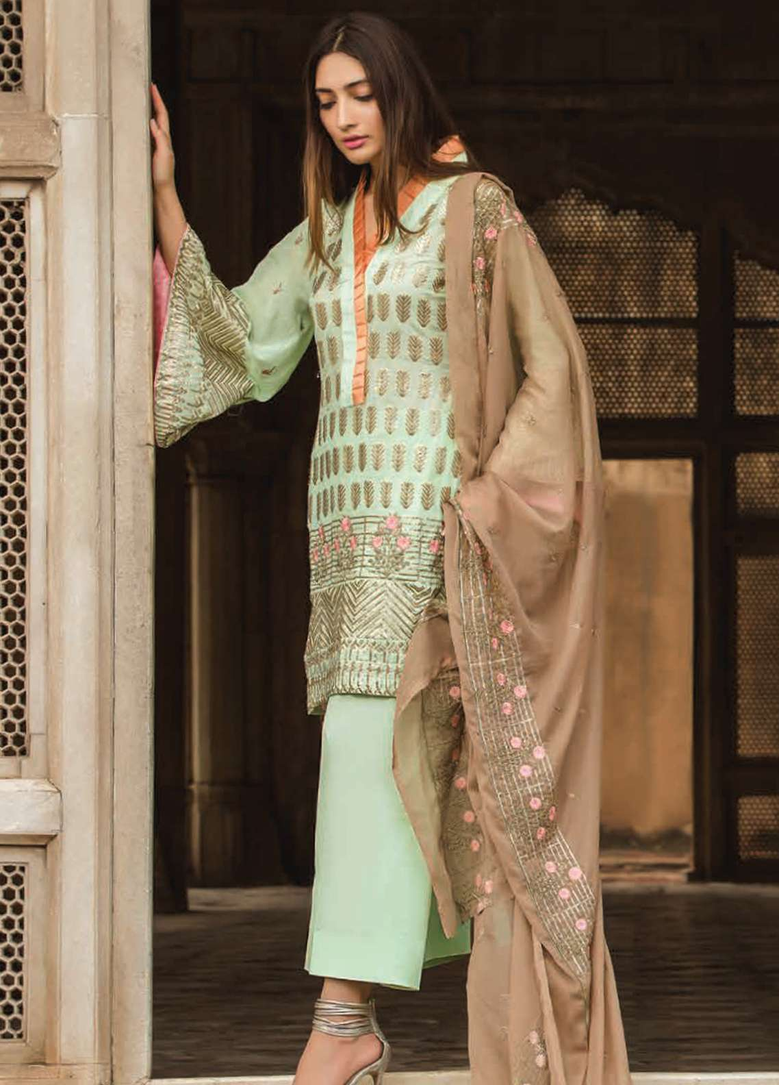 Floral Vintage Embroidered Swiss Voile Unstitched 3 Piece Suit FLV18S 10 - Festive Collection