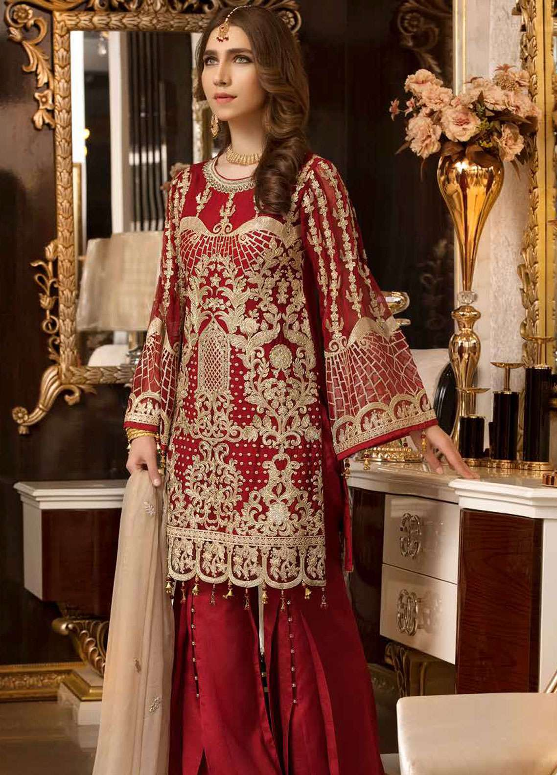 Freesia by Maryum N Maria Embroidered Chiffon Unstitched 3 Piece Suit FMM19C 603 CLASSIC CONVERSATIONS - Luxury Collection