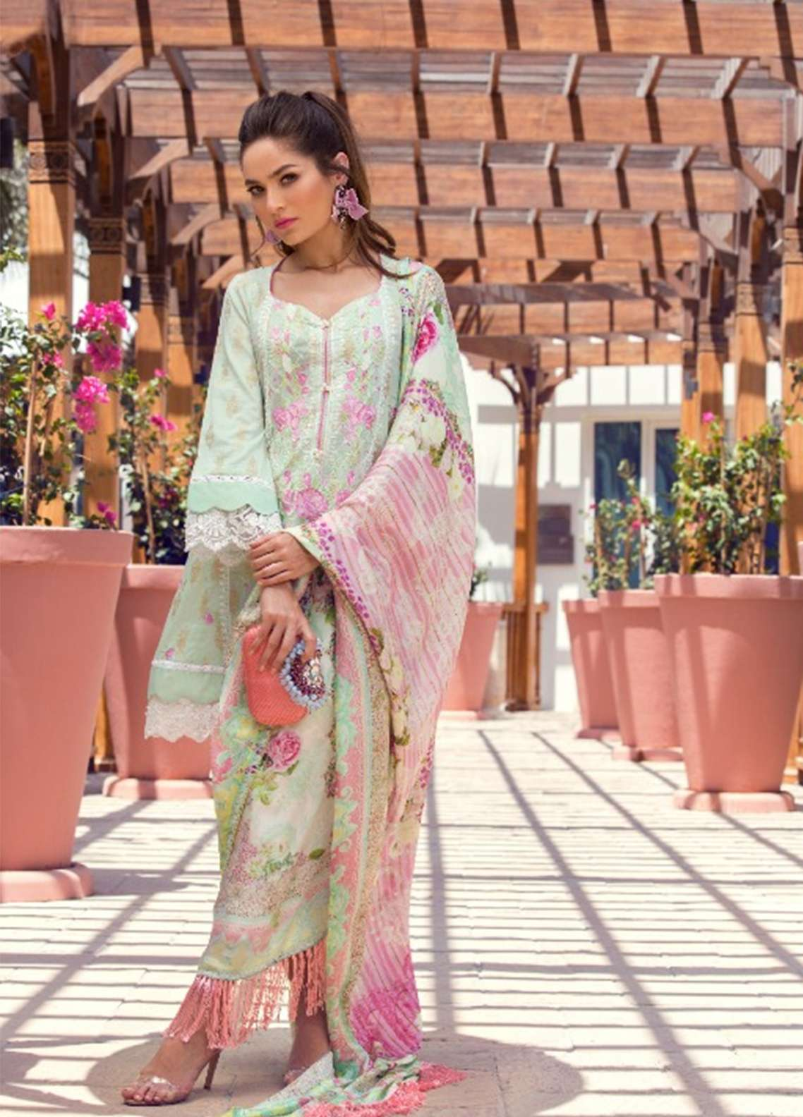 Farah Talib Embroidered Lawn Unstitched 3 Piece Suit FT18E 03 - Eid Collection