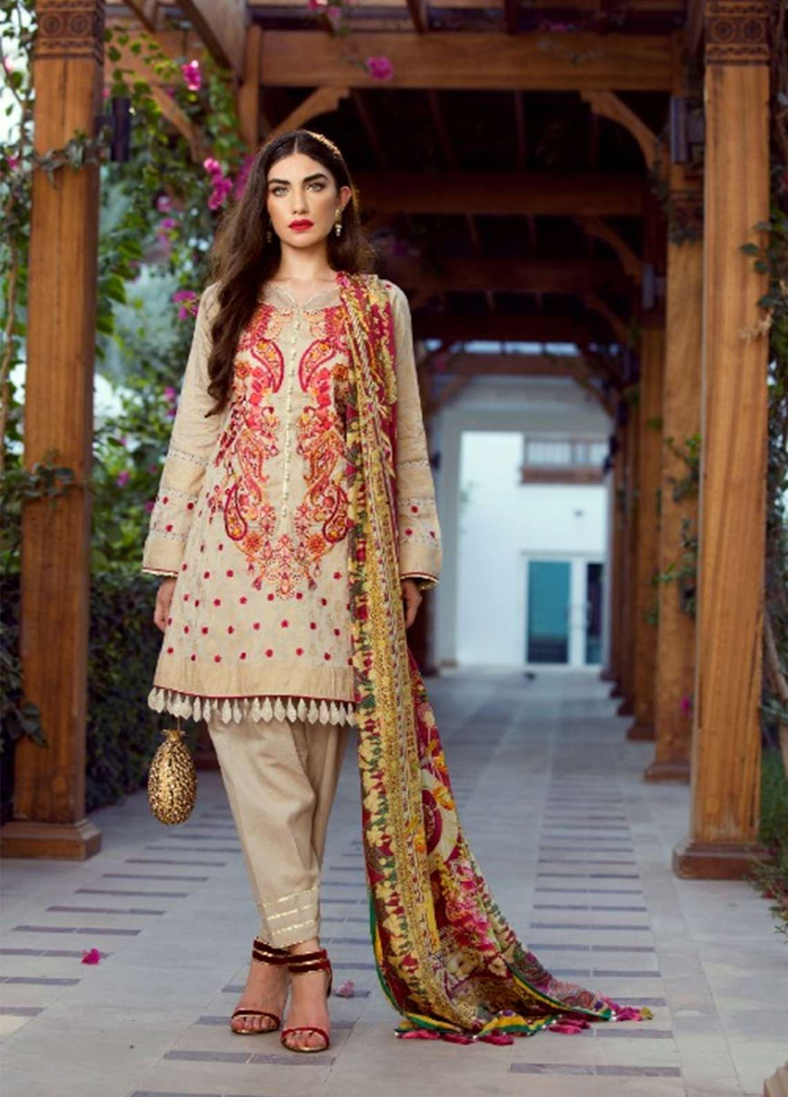 Farah Talib Embroidered Lawn Unstitched 3 Piece Suit FT18E 06 - Eid Collection