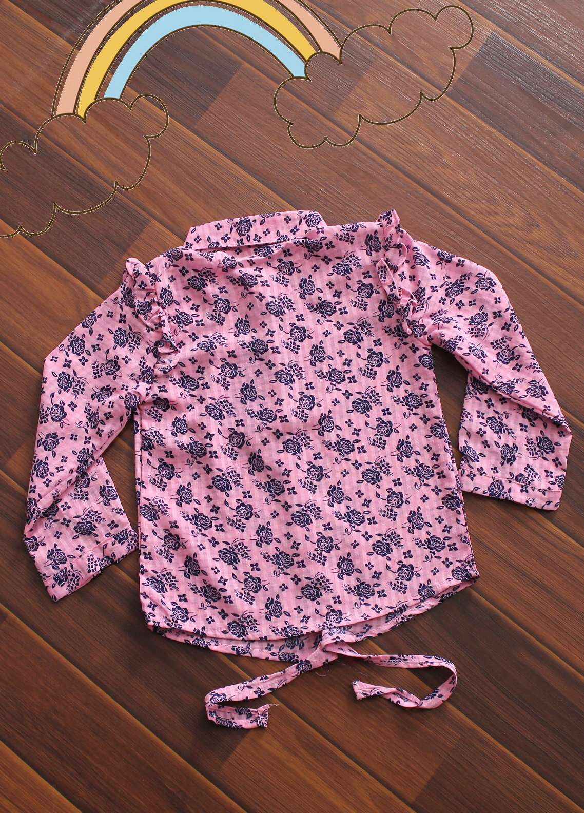 Sanaulla Exclusive Range Cotton Fancy Shirts for Girls -  CQ-15 Pink