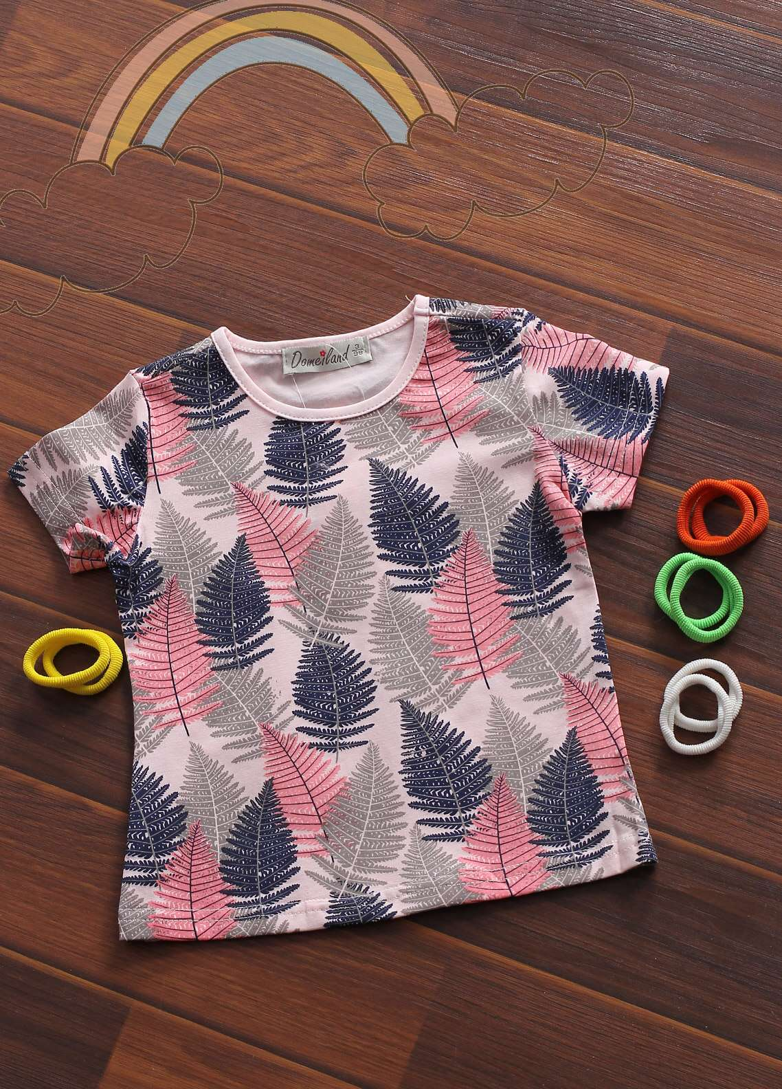 Sanaulla Exclusive Range Cotton Fancy Girls Tees -  802550 Pink