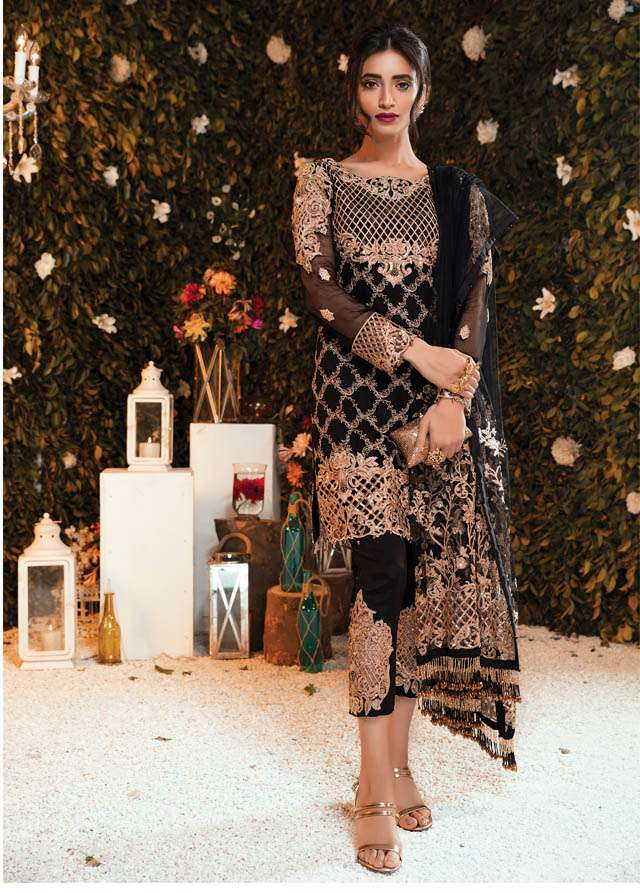 Gulaal Embroidered Chiffon Unstitched 3 Piece Suit GL17C2 05