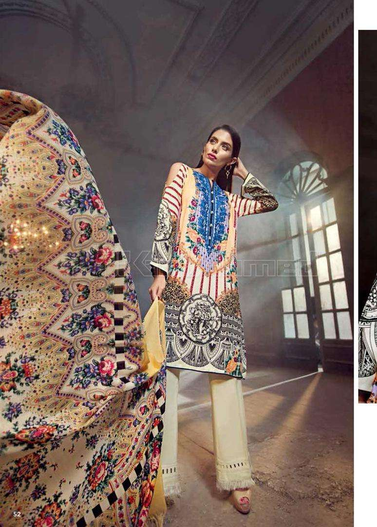 Gul Ahmed Embroidered Marina Unstitched 3 Piece Suit GL17W SW30