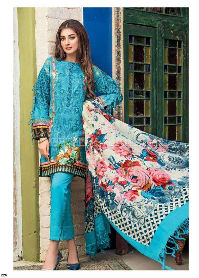 Gul Ahmed Printed Marina Unstitched 3 Piece Suit GL17W SW38