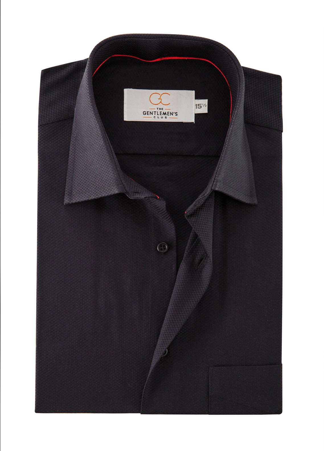 The Gentlemen's Club Cotton White Label Men Formal Shirts - Black GM18FS 4010