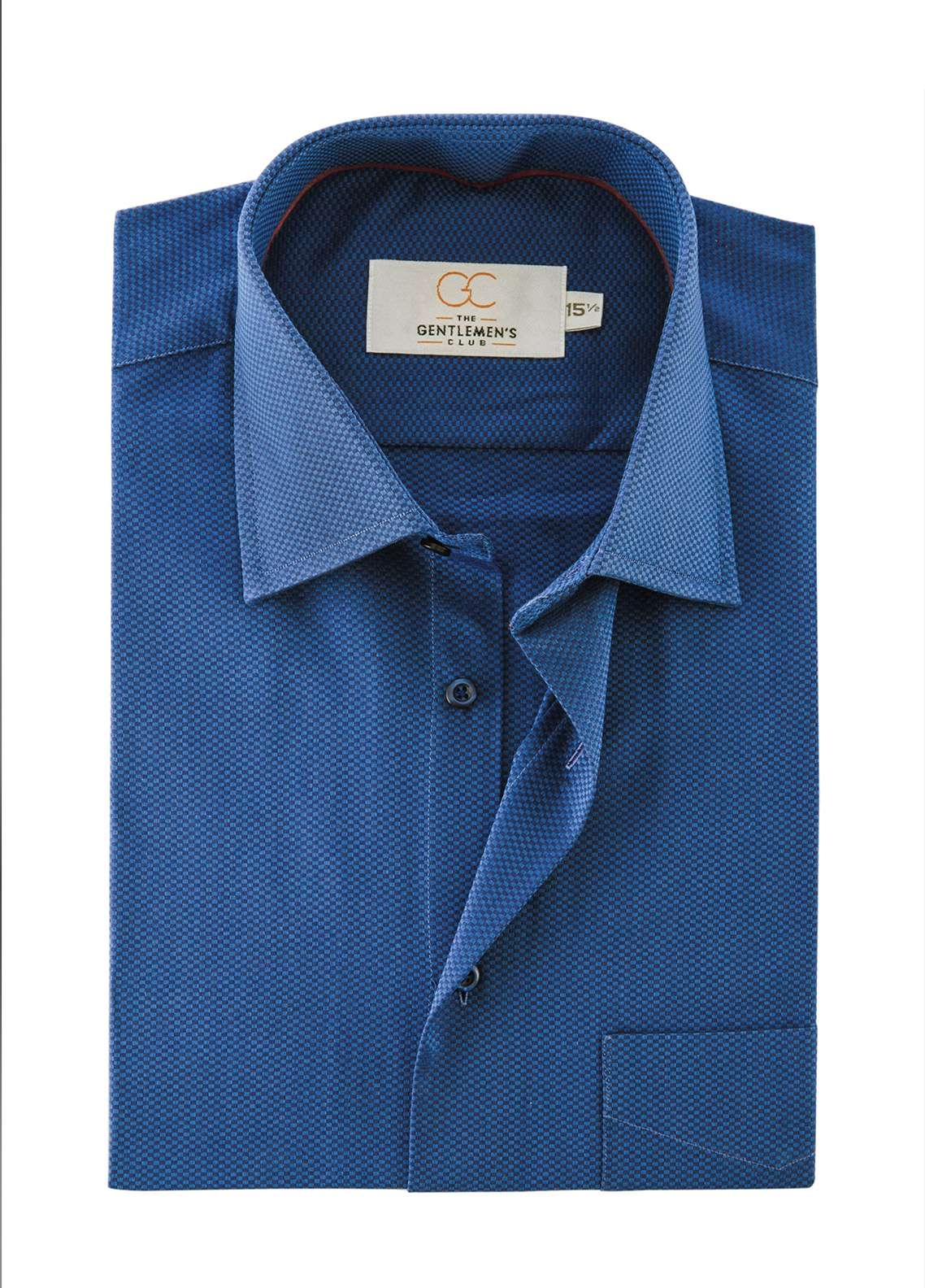The Gentlemen's Club Cotton White Label Formal Shirts for Men - Royal Blue GM18FS 4011