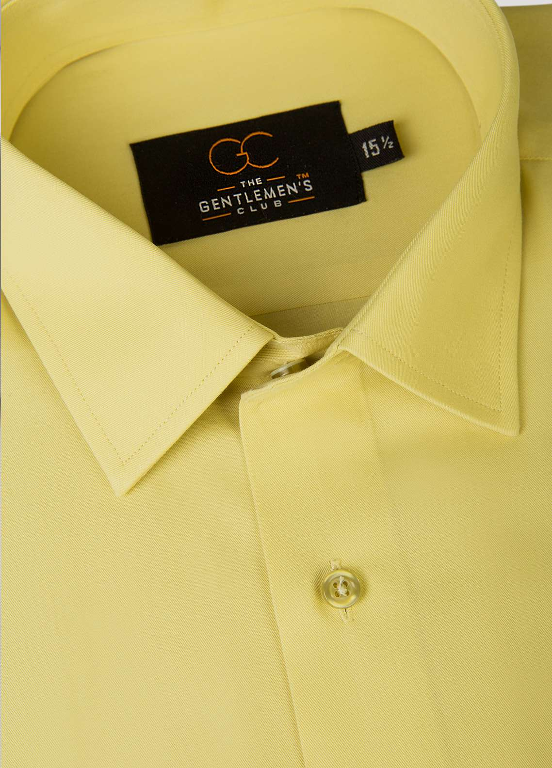 The Gentlemen's Club Cotton Black Label Men Formal Shirts -  GM18FS Yellow