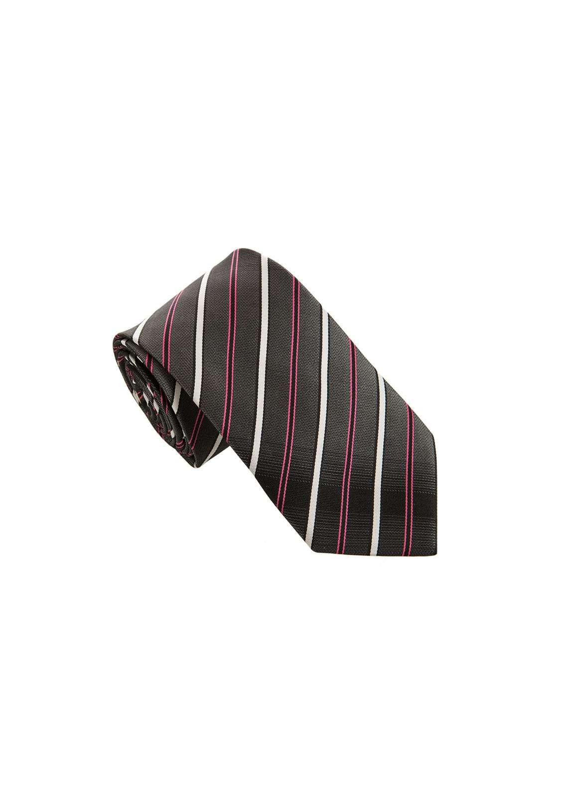 The Gentlemen's Club Black Striped Silk Men's Ties