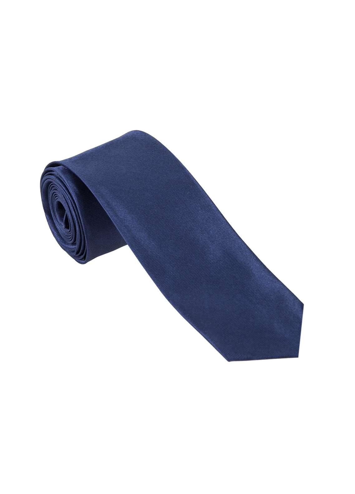 The Gentlemen's Club Navy Blue Plain Silk Men's Ties