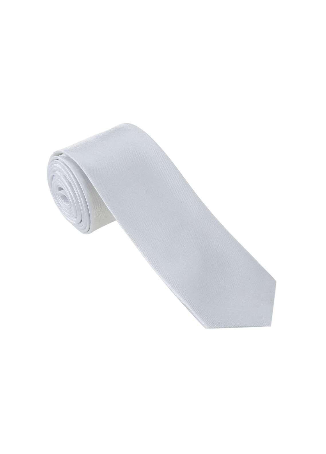 The Gentlemen's Club White Plain Silk Men's Ties