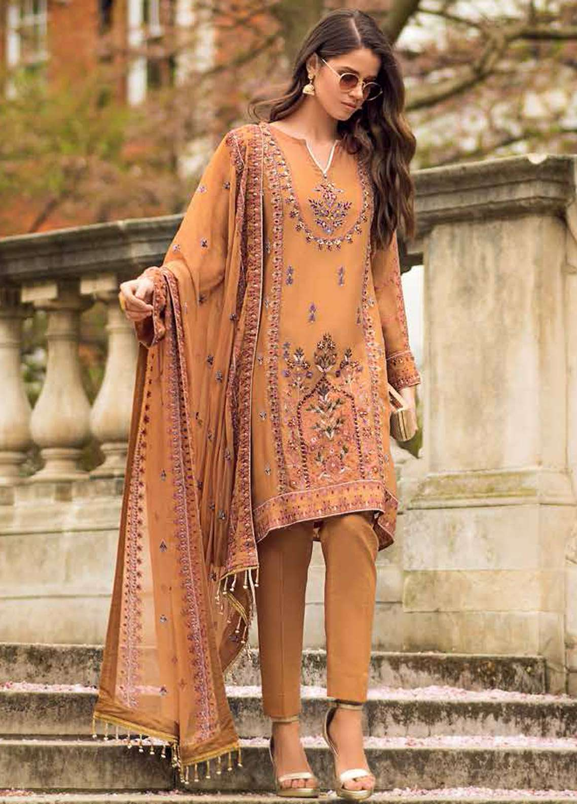 426dad8fb2 Gul Ahmed Embroidered Chiffon Unstitched 3 Piece Suit GA19E FE-171 - Eid  Collection