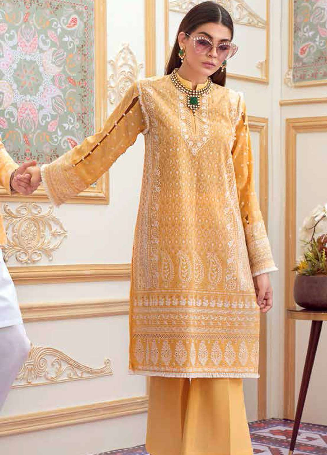 Gul Ahmed Embroidered Chikankari Unstitched 2 Piece Suit GA19E FE-211 - Eid Collection