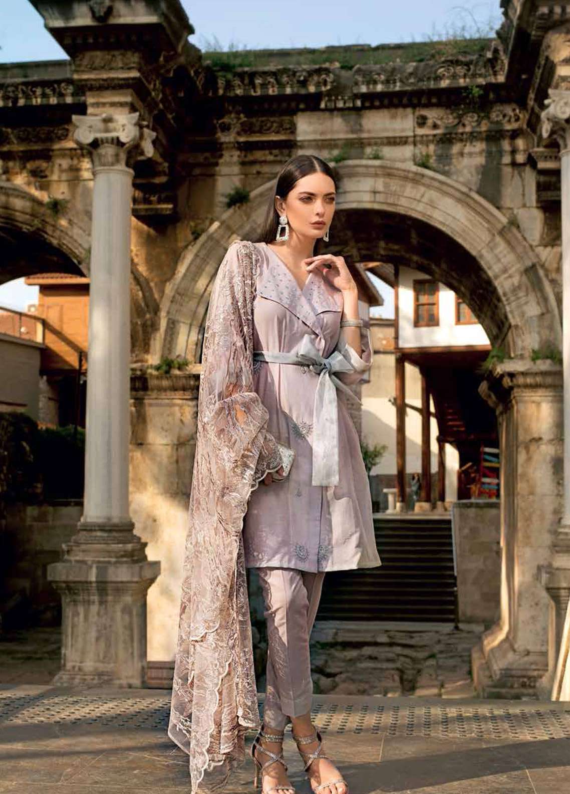 Gul Ahmed Embroidered Jacquard Unstitched 3 Piece Suit GA19E FE-225 - Eid Collection
