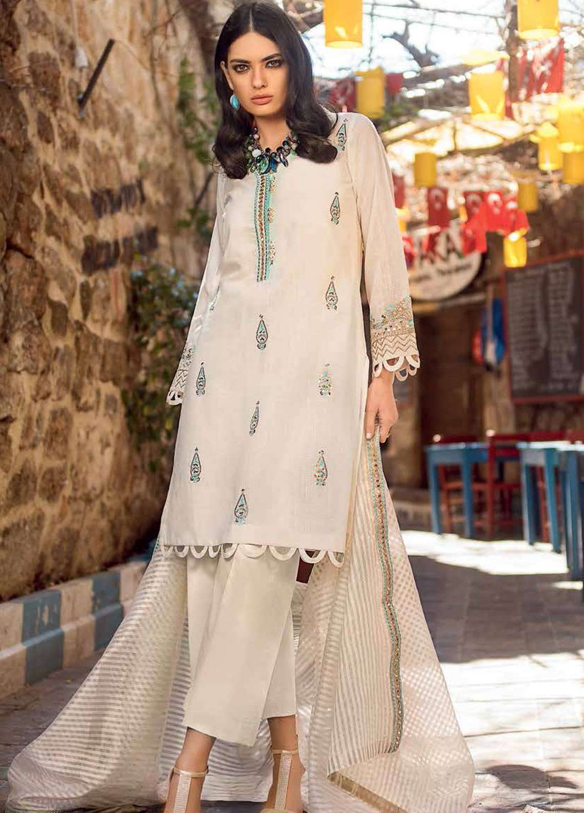 Gul Ahmed Embroidered Jacquard Unstitched 3 Piece Suit GA19E FE-231 - Eid Collection