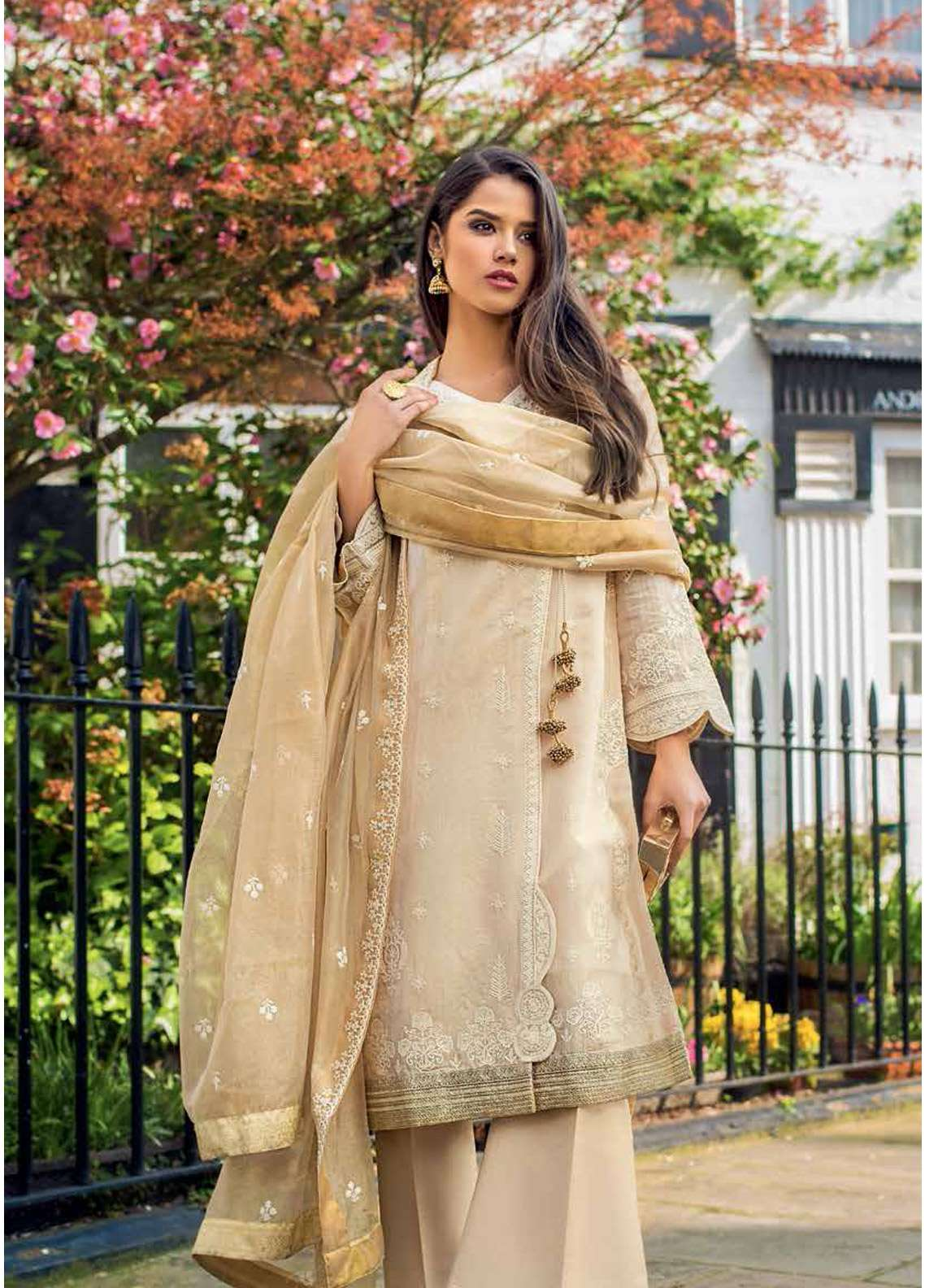 Gul Ahmed Embroidered Jacquard Unstitched 3 Piece Suit GA19E FE-235 - Eid Collection