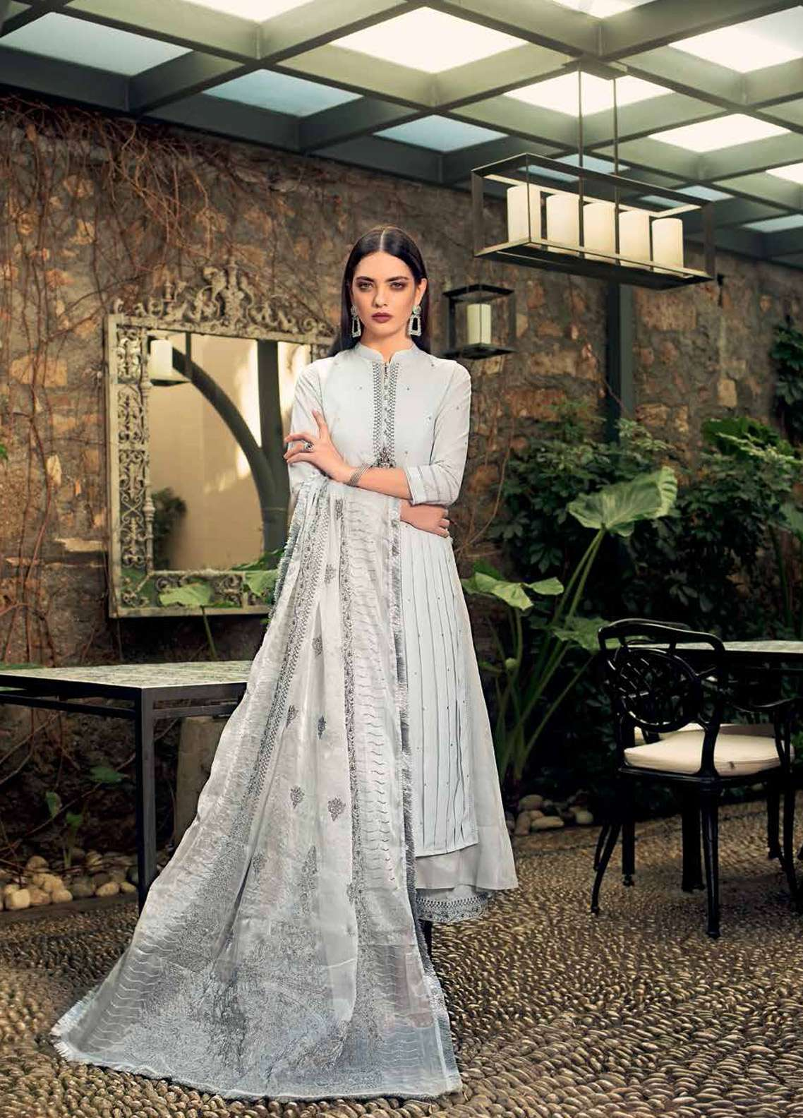Gul Ahmed Embroidered Missouri Unstitched 3 Piece Suit GA19E FE-240 - Eid Collection