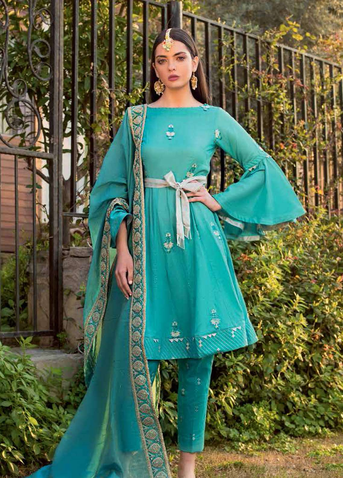 Gul Ahmed Embroidered Lawn Unstitched 3 Piece Suit GA19E FE-244 - Eid Collection