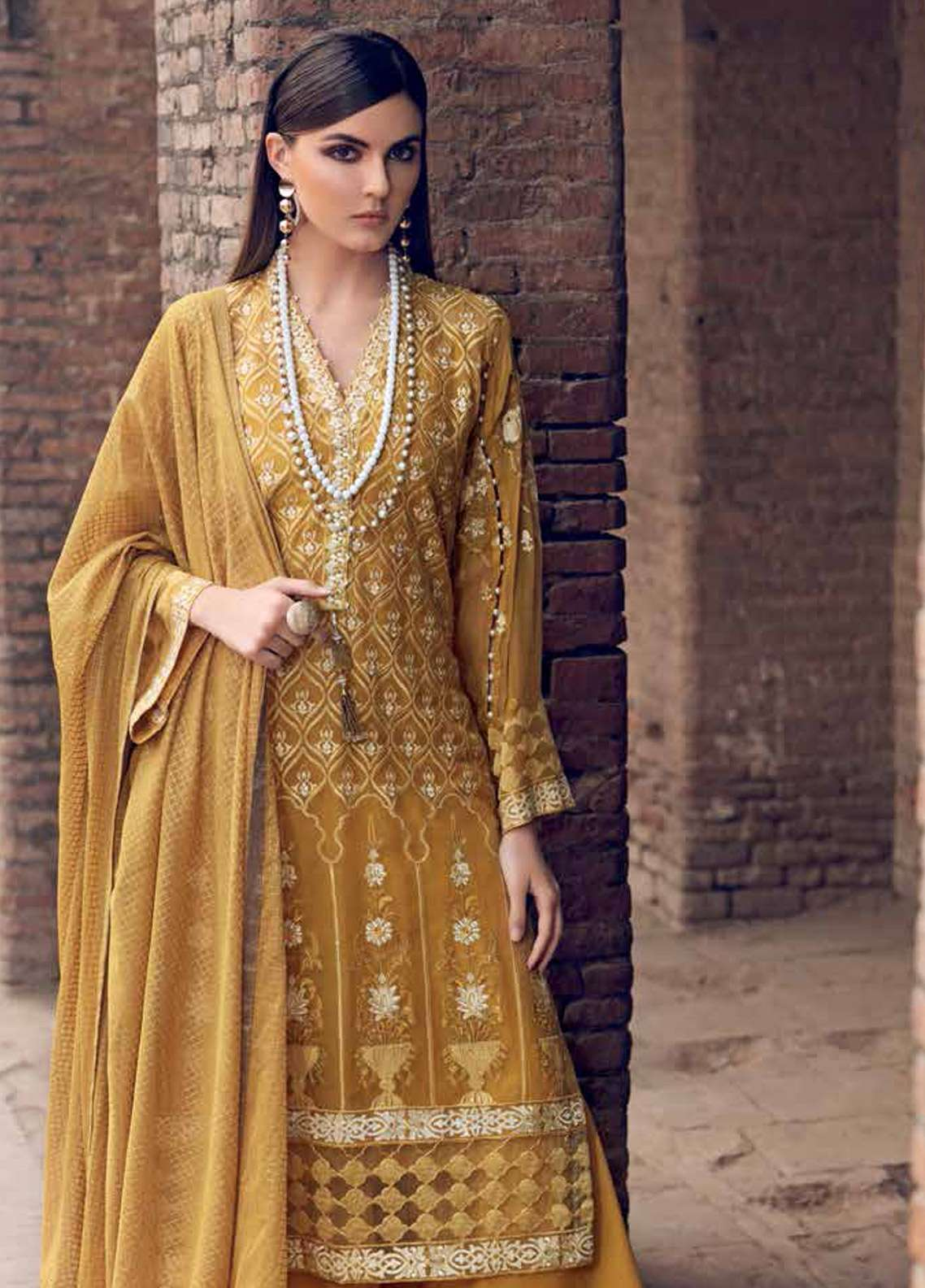 Gul Ahmed Embroidered Lawn Unstitched 3 Piece Suit GA19E FE-253 - Eid Collection