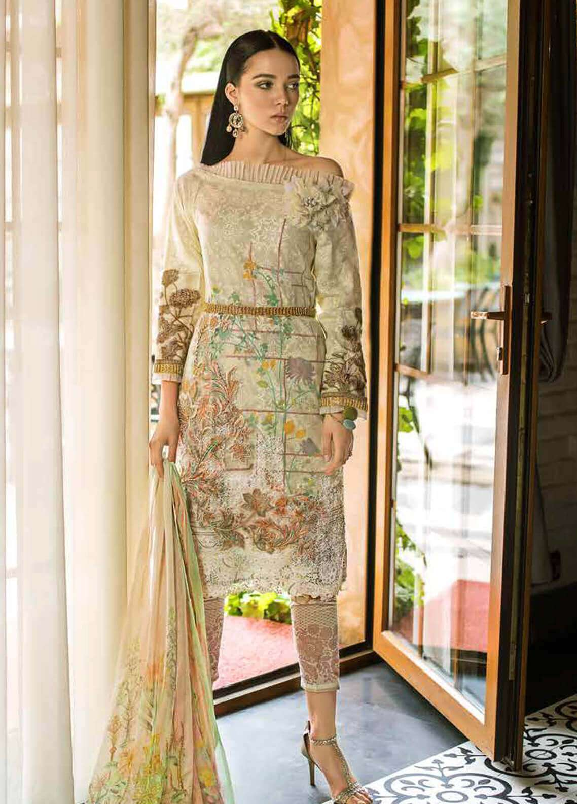 Gul Ahmed Embroidered Organza Unstitched 3 Piece Suit GA19FB PS-02 Laced Love - Formal Collection