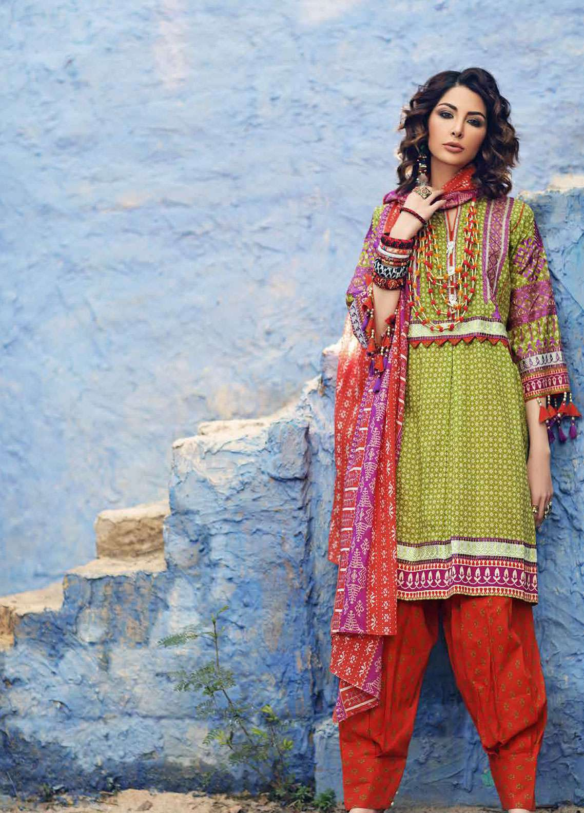 Gul Ahmed Gypsy Embroidered Cotton Unstitched 3 Piece Suit GAG19L GL-16 A - Spring / Summer Collection